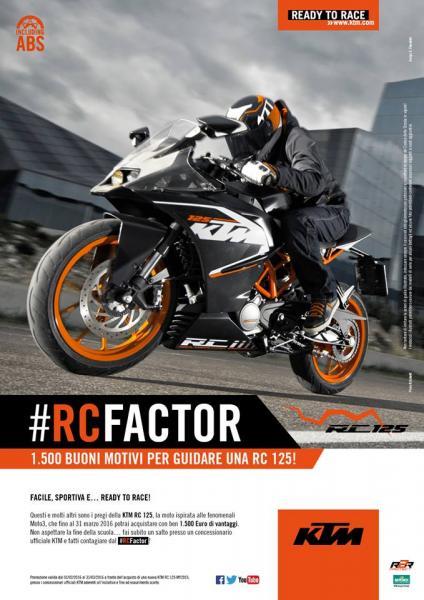 RC Factor: la promozione su KTM RC 125